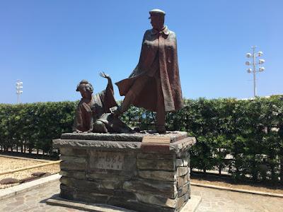貫一・お宮の像