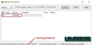 Pilih saja menu centang Flash all