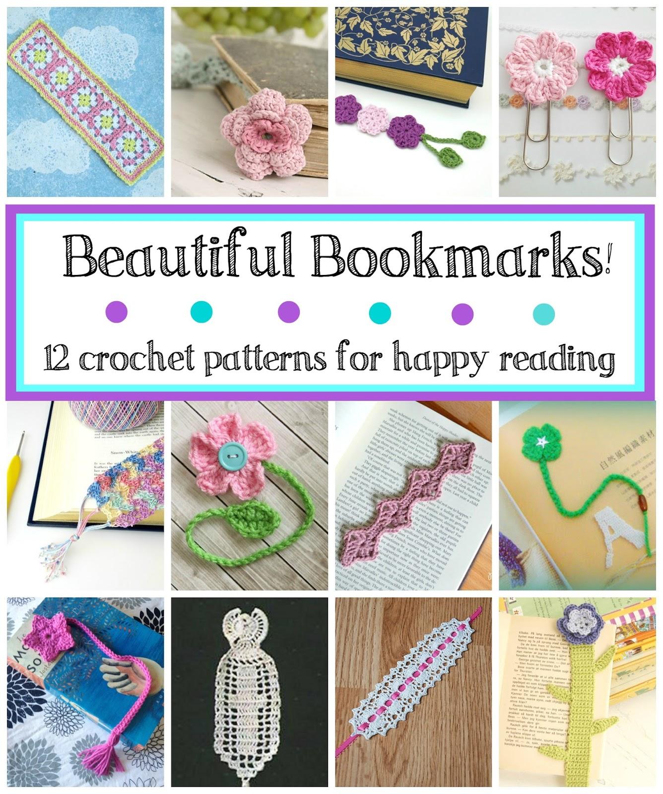 Fiber Flux Beautiful Bookmarks 12 Free Crochet Patterns For Happy