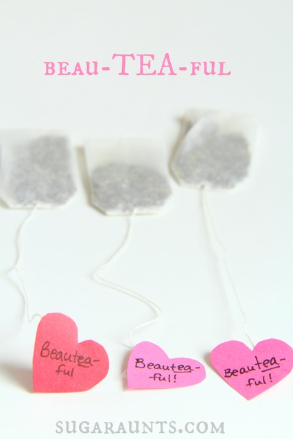 Make Valentines Day tea bags for some one you love!
