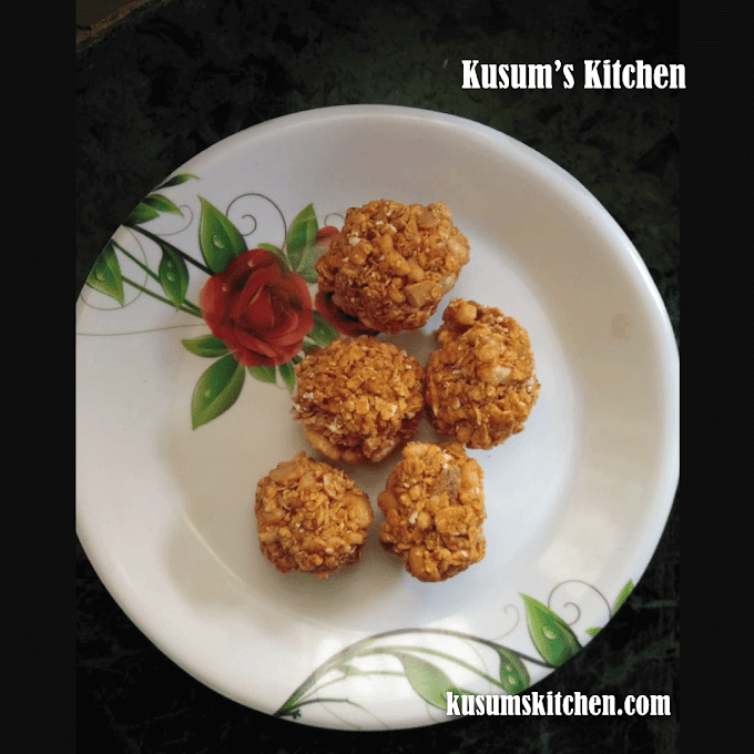 Oats Laddu Recipe | Oats Laddu Recipe With Jaggery