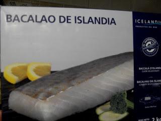 Bacalao congelado desalado.