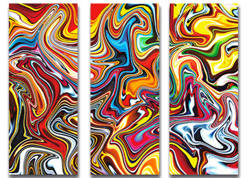 abstract, art, contemporary, multi coloured, large, wall art, trippy, modern, artwork, Sam Freek,