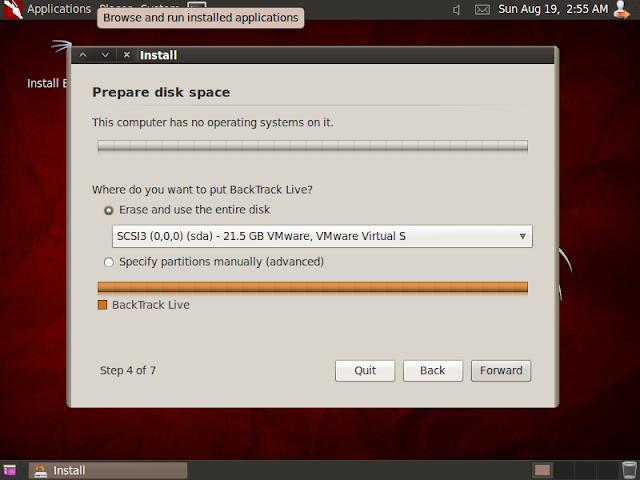 Installing backtrack 5 R3 সিকিউরিটি ISO  BackTrack নিয়ে কিছু কথা .........