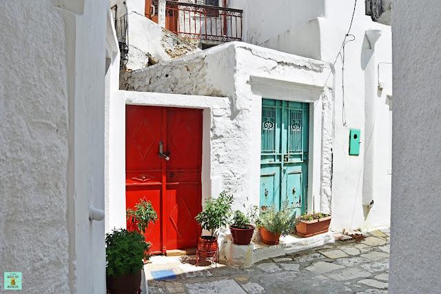 Apeiranthos, isla de Naxos (Grecia)