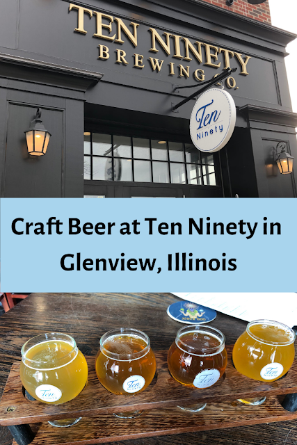 Relaxing with Craft Beer at Ten Ninety in Glenview, Illinois