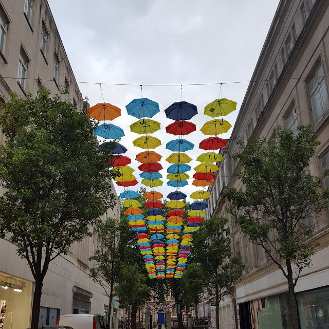 coloured umbrellas