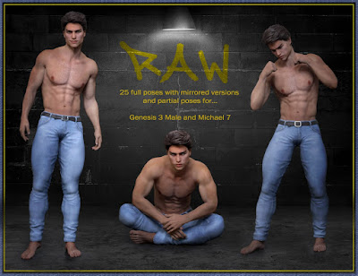 Raw Poses for Genesis 3 Male and Michael 7