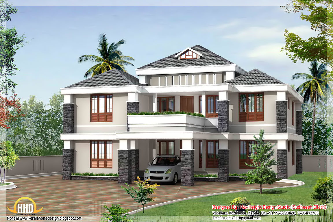 May 2012 kerala home design and floor plans for Beautiful 4 bedroom house designs