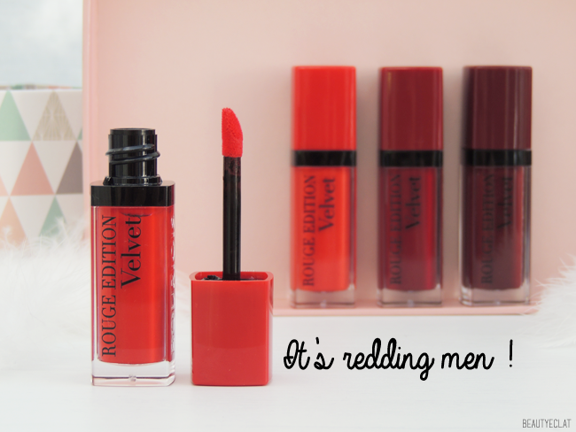 revue avis test bourjois red in the city rouge edition 12 heures rouge edition velvet swatch swatches it's redding men