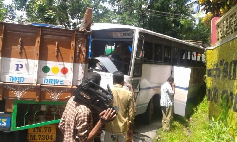 KSRTC IMAGE DATABASE: KSRTC Bus Accident Near Ponkunnam
