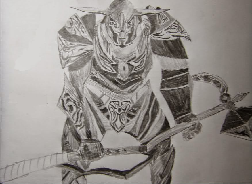 Knight Online Karakalem Çizimleri