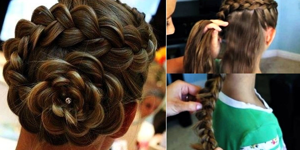 Step By Step And Video Tutorial For This Impressive Flower Braid