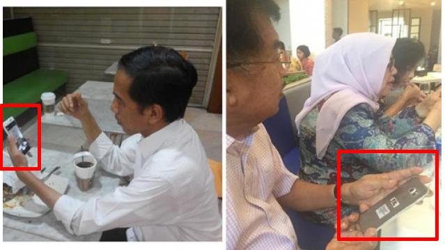 Ini Bedanya Ponsel Presiden Jokowi Dan Wapres JK, Beda Kelas Dan Beda Harga