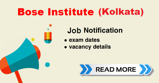 bose institute recruitment 2018