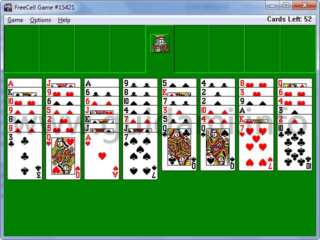 Schermata del Vecchio FreeCell