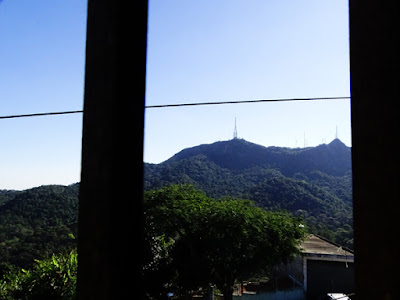 Vista do andar de cima da casa de Moacir