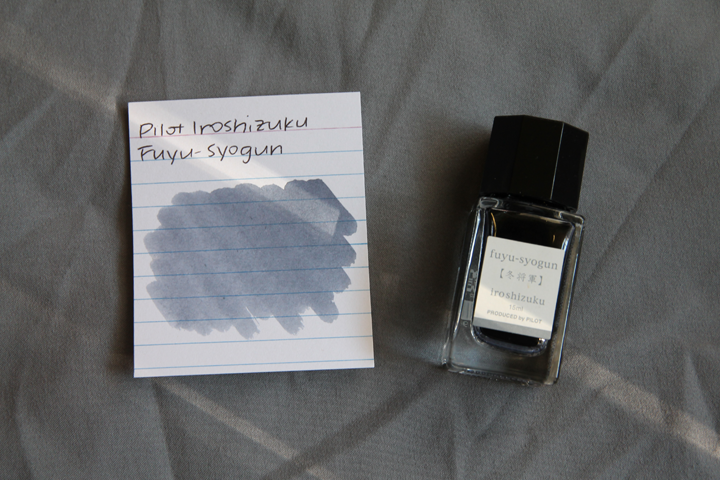 review: pilot iroshizuku fuyu-syogun