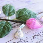 how to make a Hershey Kiss rose