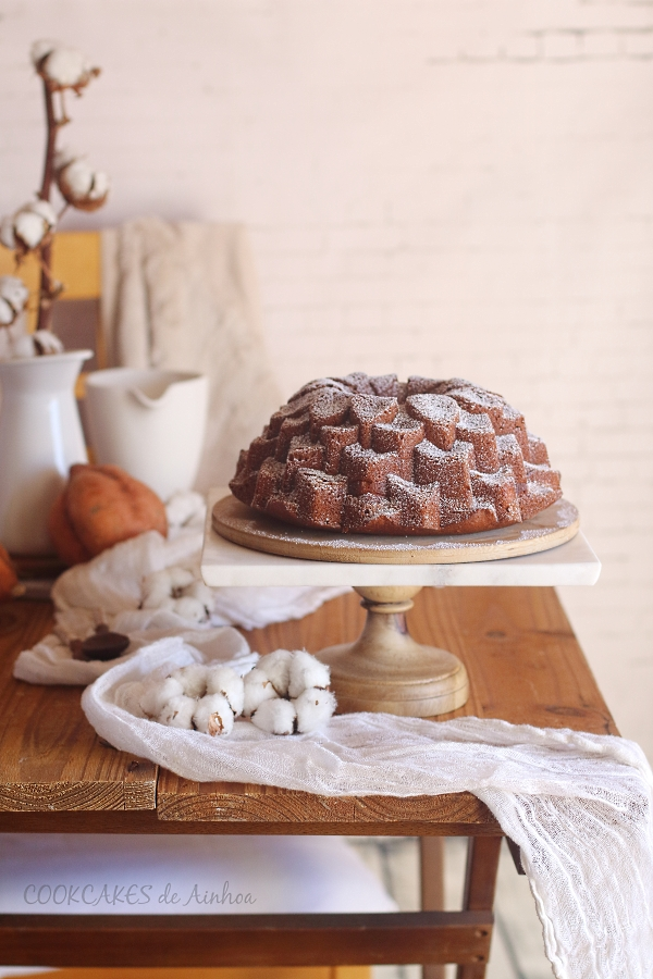 Bundt Cake de Boniato y Queso Ricotta. Cookcakes de Ainhoa