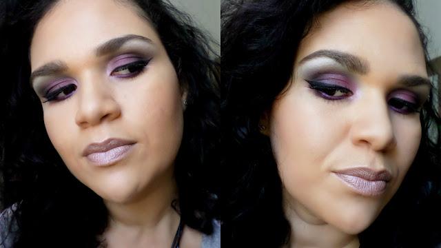 Maquiagem rock tons de roxo