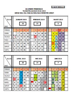 Kalender Pendidikan Tahun Pelajaran 2018/2019