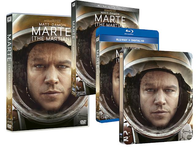 A la venta 'Marte (The martian)' en DVD, Blu-ray, Blu-ray 3D y Edición Metálica