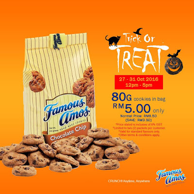 Famous Amos Malaysia Cookies in a Bag Discount Promo