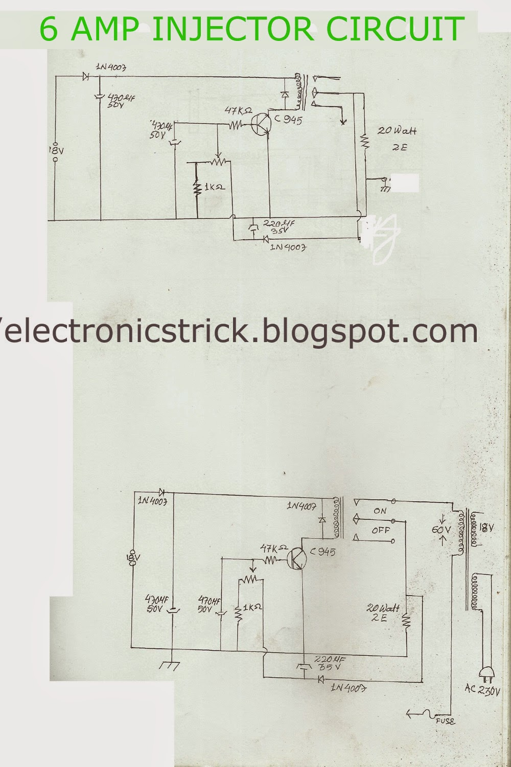 Electronics Tricks And Tips Cable Tv Injector 6 Amp Circuit Wiring Diagram For