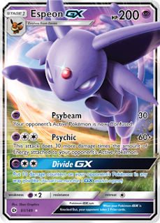 Espeon GX Sun and Moon Pokemon Card