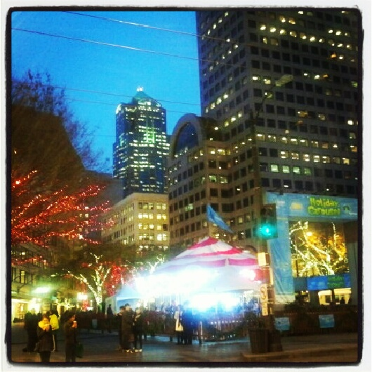 Seattle Christmas Tree Lighting: Downtown Seattle At Christmas
