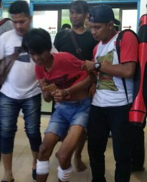 Penangkapan tahanan Polsek Simpang Rmpat yang kabur.