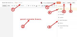 Blog par New post kaise upload karte hai hindi me
