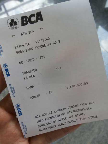 AWAS!! Penipuan Berkedok Transfer Rekening BCA