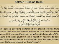 Salaten Tüncina Duası Türkçe Arapca Okunuşu
