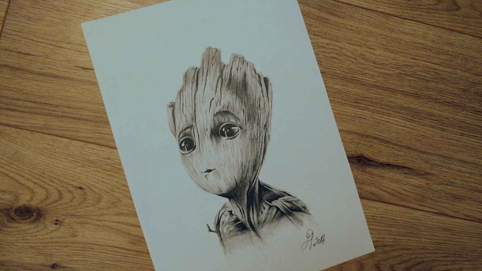 The Almighty Pencil Drawings Pencil Sketch Of Baby Groot