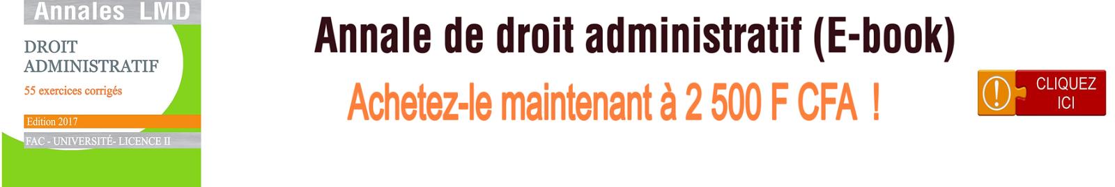 Cours de droit administratif ivoirien