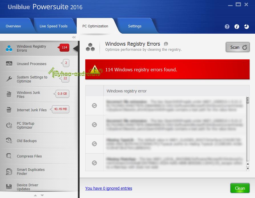 Uniblue PowerSuite 2016