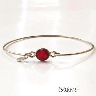 Macaron Bracelet Garnet Stone