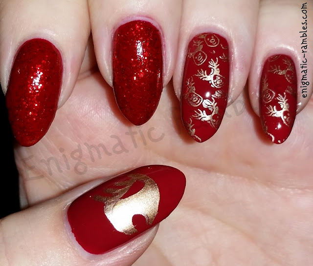 Stamped-Reindeer-Stag-Nails-Nail-Art