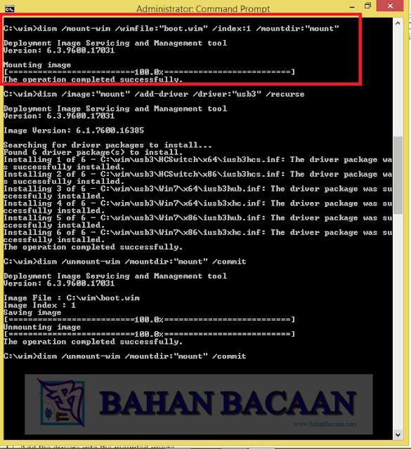 Memodifikasi file boot.wim juga. Mount image .