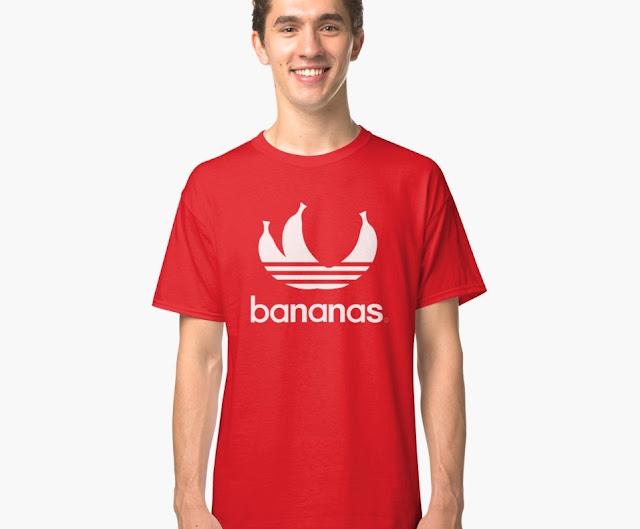 Bananas parody logo T-shirt