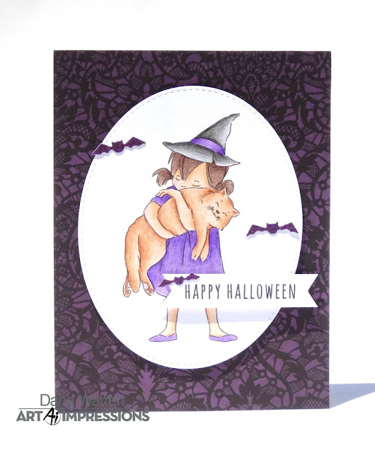 Dana Warren - Kraft Paper Stamps - Art Impressions - Halloween Spectrum Noir ColourBlend Pencils