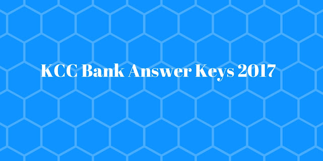 kcc bank answer keys 2017