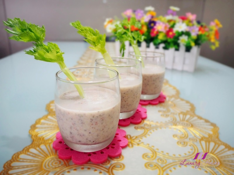 celery strawberry smoothie with chia seeds recipe