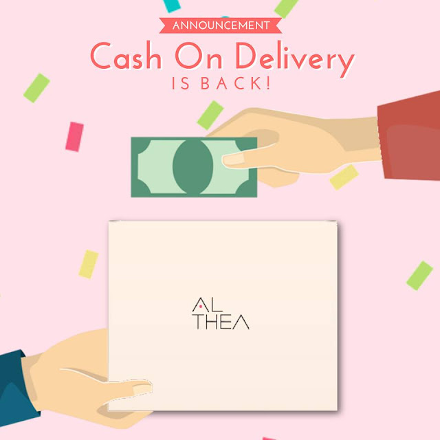 COD, althea korea, payment, shopping, cash on delivery, money