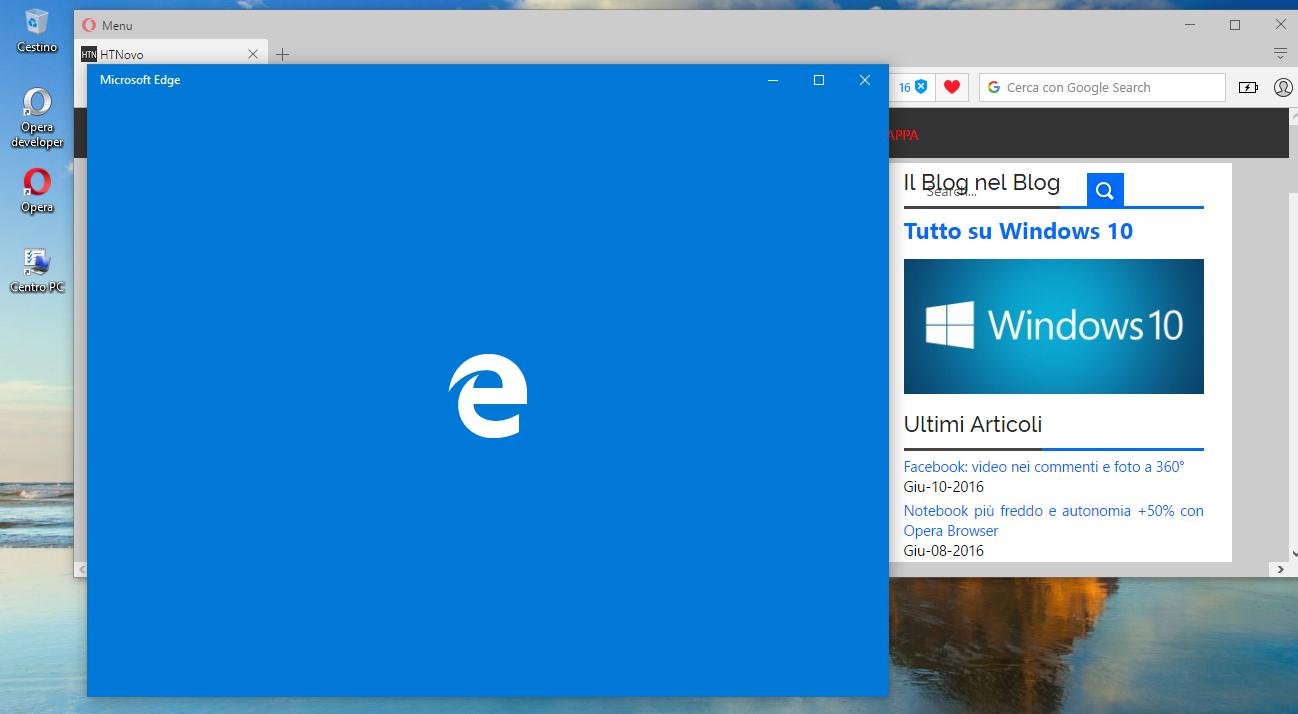 Come cambiare il colore di apertura di Microsoft Edge HTNovo