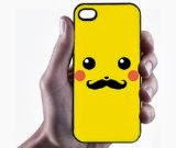 Pikachu With Mustache iPhone 5 Case