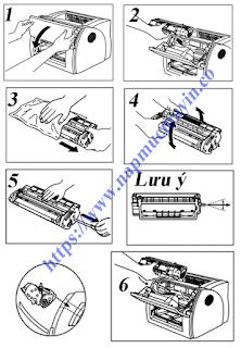 Dịch vụ Nạp mực máy in Canon 1210, Cách thay mực máy in Canon 1210 dễ dàng.