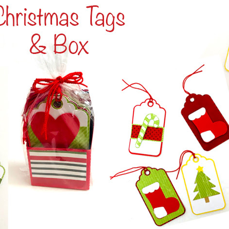 Christmas Tags with Printable Sentiments